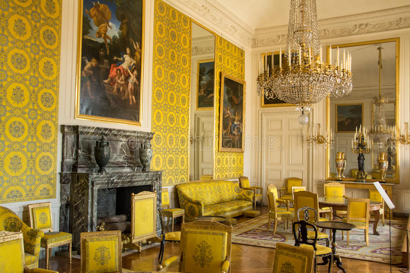 Sala amarela imagens de stock royalty free