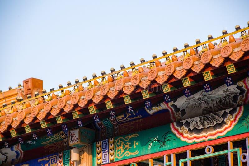 Sala antiga chinesa da construção avante imagens de stock