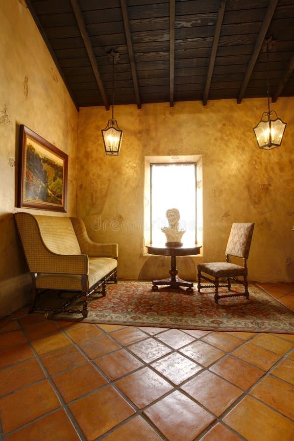 Sala antiga no local histórico do batalhão do mórmon, San Diego foto de stock royalty free