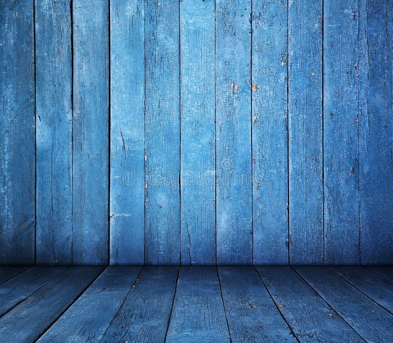 Sala azul fotografia de stock