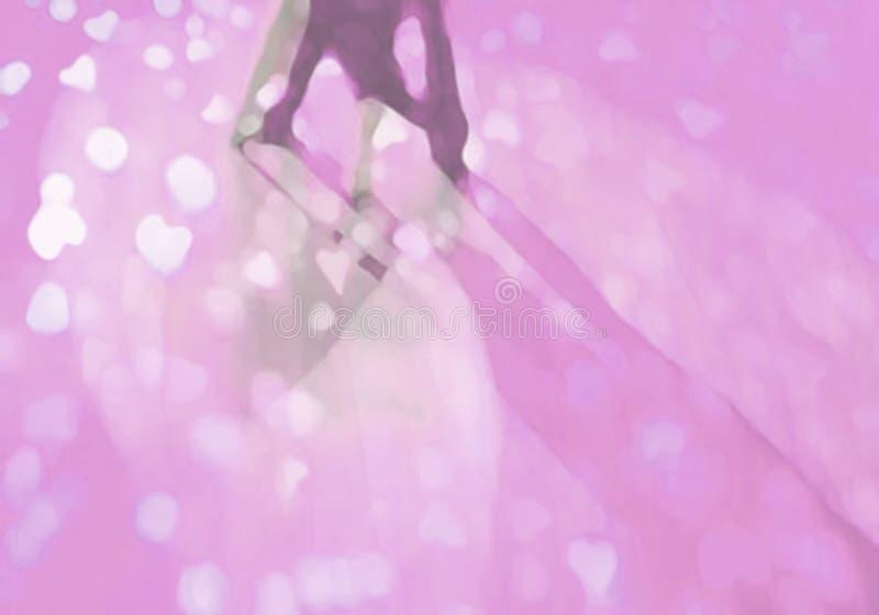 Sala balowa parkietu tanecznego abstrakta menchii serca royalty ilustracja
