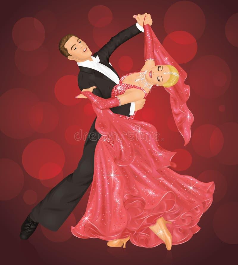 sala balowa taniec ilustracja wektor