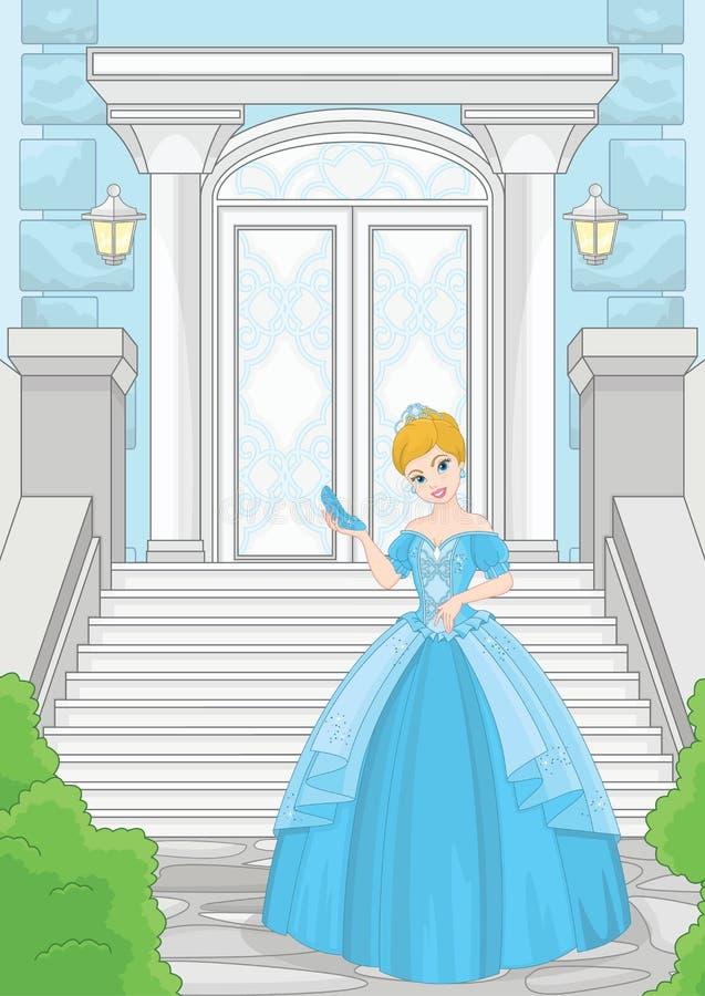 Sala balowej Kopciuszek kamienia magii schody ilustracja wektor