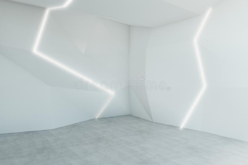 Sala branca abstrata ilustração stock