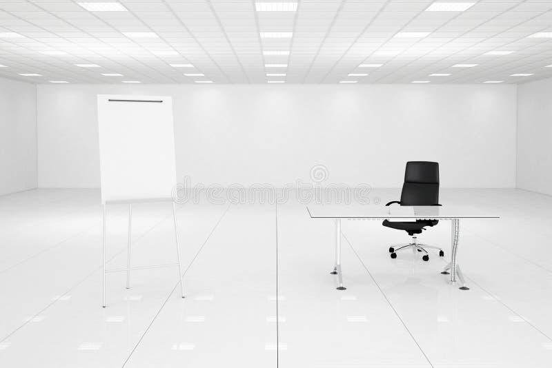 Sala branca do escritório com flipchart ilustração royalty free