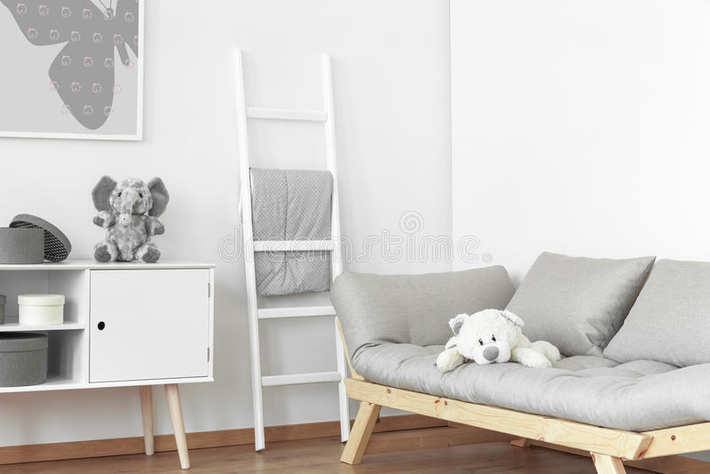 Sala branca e cinzenta imagens de stock royalty free