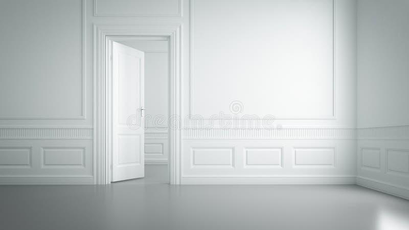 Sala branca vazia fotografia de stock