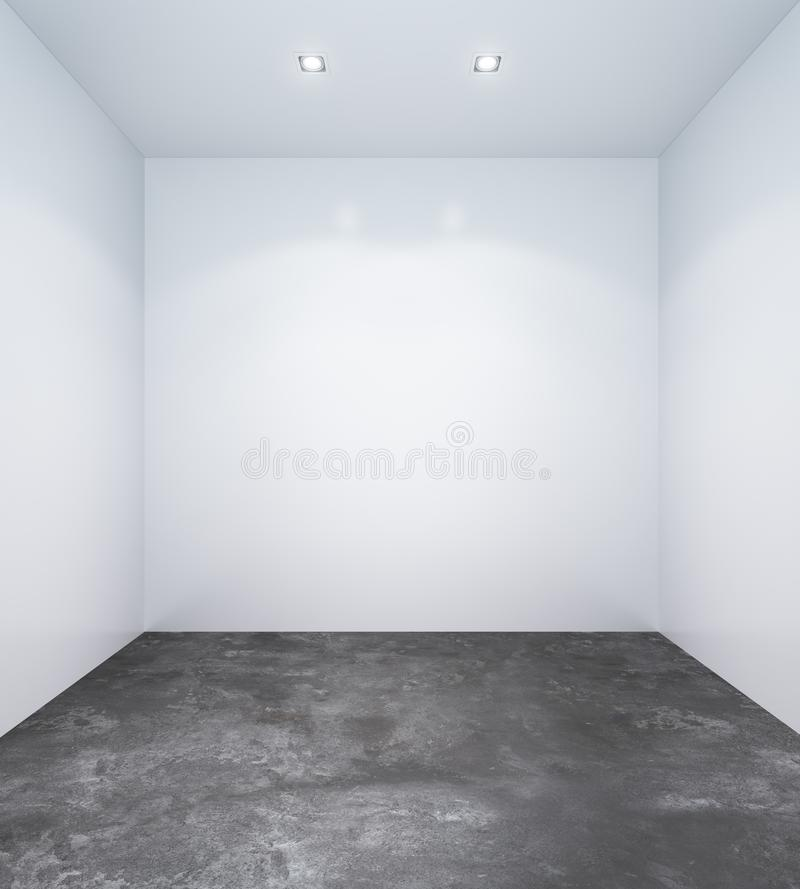 Sala branca vazia com paredes brancas ilustração stock