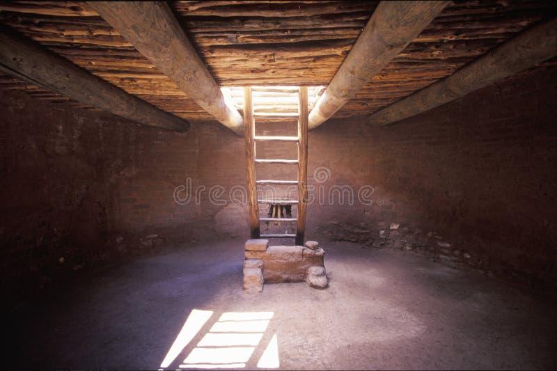Sala cerimonial subterrânea, parque histórico nacional dos Pecos, nanômetro foto de stock royalty free
