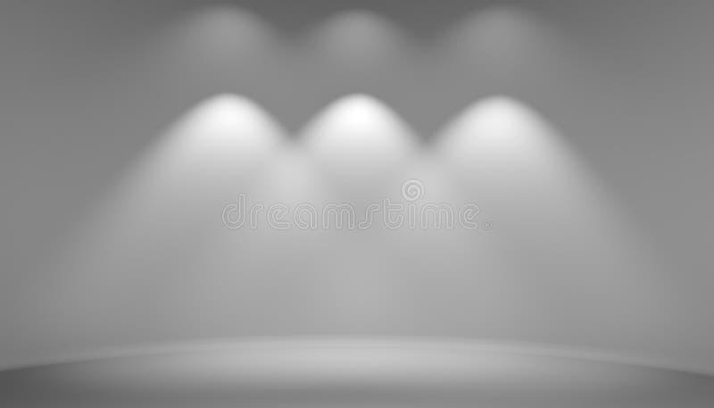 Sala cinzenta vazia do estúdio do fundo imagens de stock