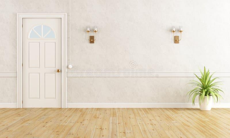 Sala clássica branca ilustração stock