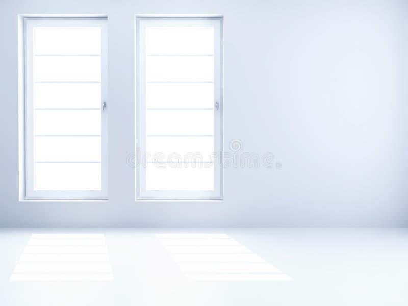 Sala clara vazia foto de stock