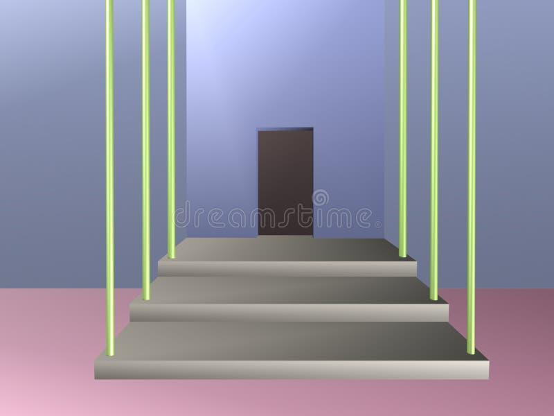 Sala com abertura na ilustração da parede ilustração royalty free