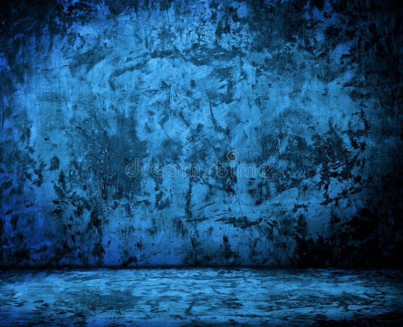 Sala com muro de cimento do grunge, assoalho do cimento ilustração royalty free