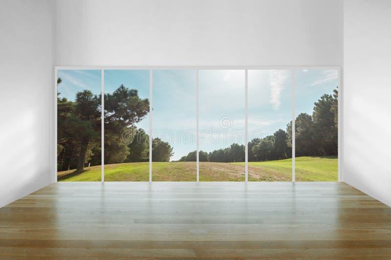 Sala com vista agradável fotos de stock