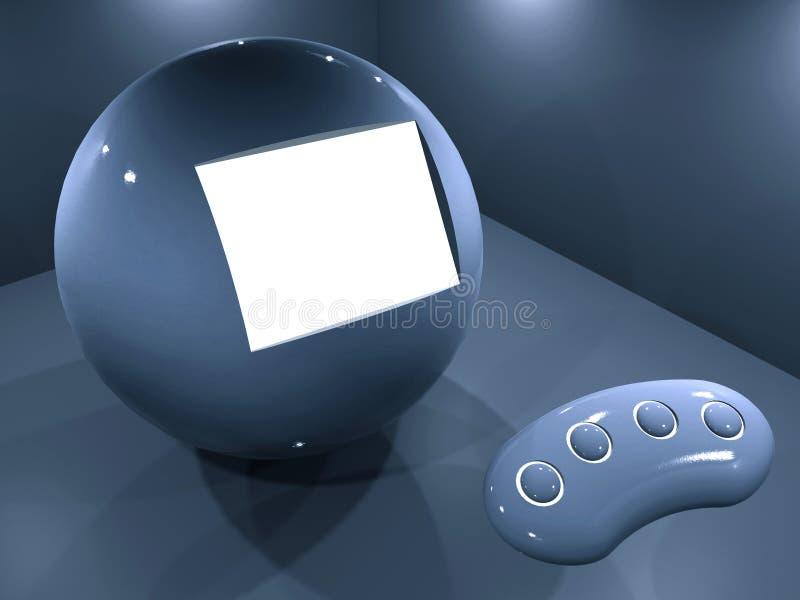 Sala d'esposizione della sfera illustrazione vettoriale