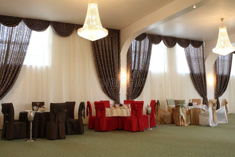 Sala da ballo di cerimonia nuziale fotografia stock libera da diritti