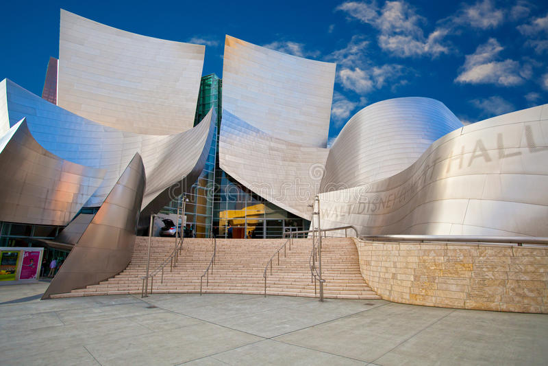 Sala da concerto del Walt Disney fotografia stock libera da diritti