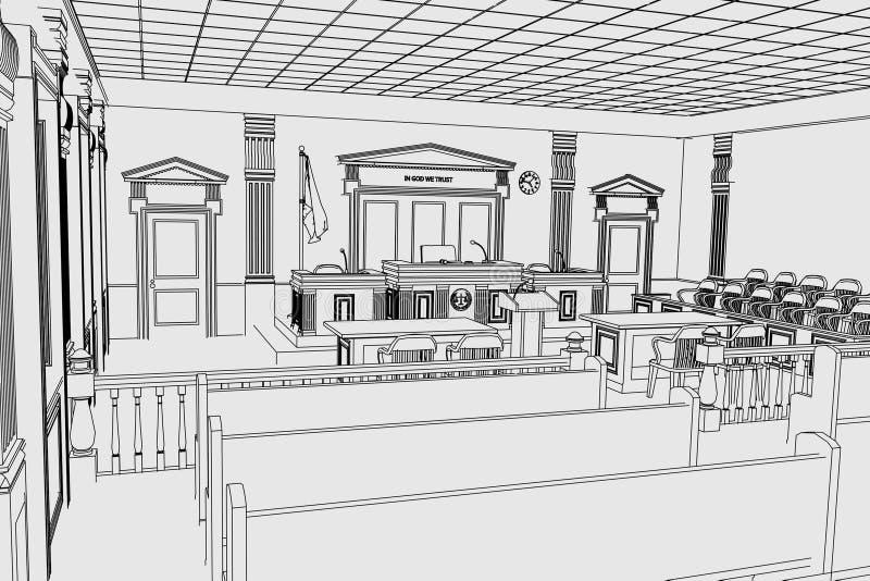 Sala da corte ilustração do vetor