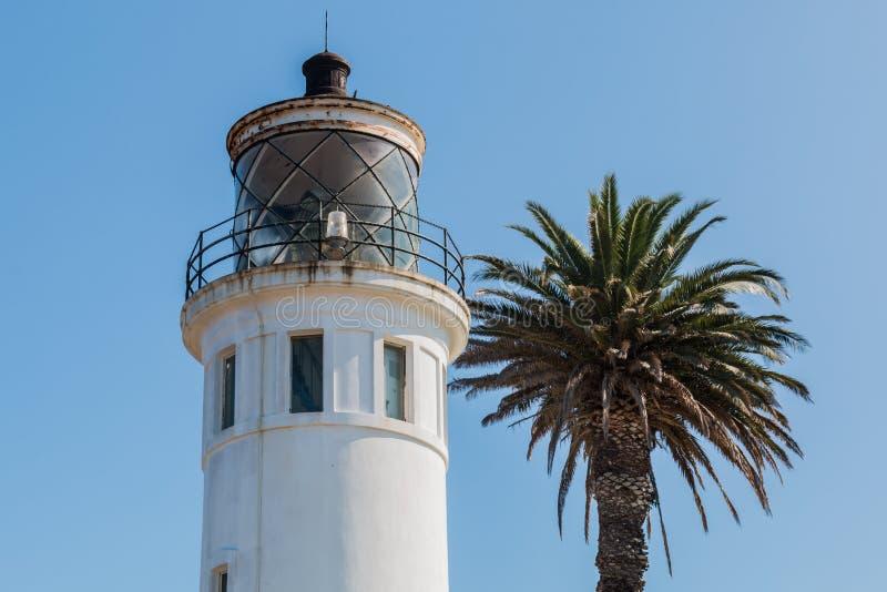 Sala da lanterna do ponto Vicente Lighthouse em Rancho Palos Verde, CA fotografia de stock royalty free