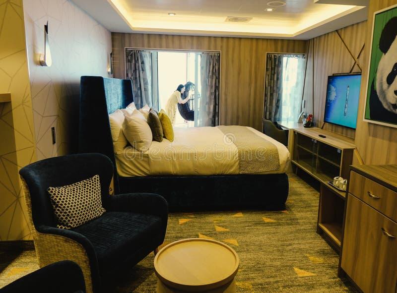 Sala da letto della suite Ultimate Family fotografie stock