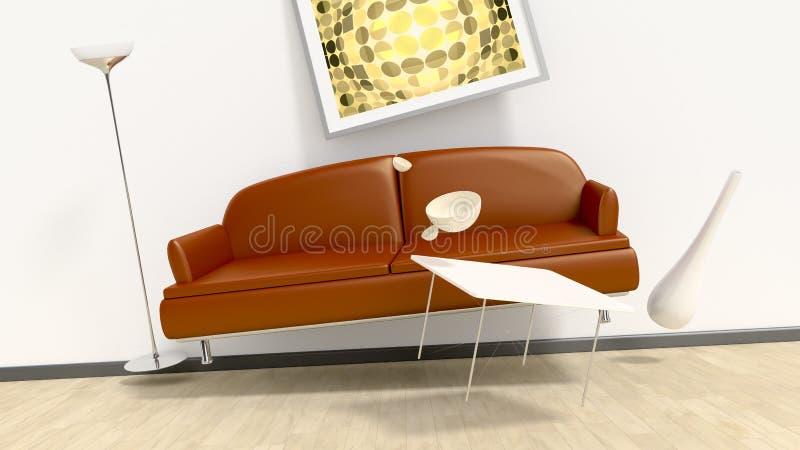 Sala da mobília do voo ilustração do vetor
