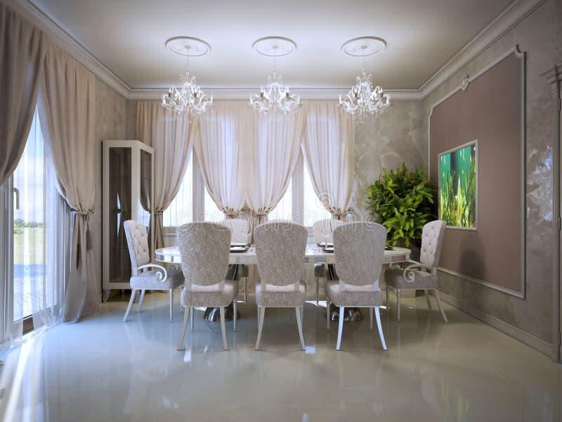 Sala Da Pranzo Accogliente Nel Retro Stile Fotografia ...