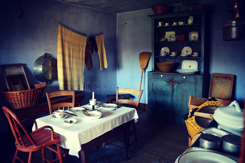 Sala da pranzo d'annata fotografie stock