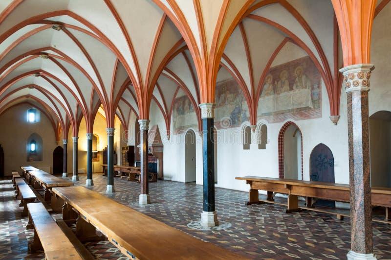 Sala da pranzo del castello di Malbork immagini stock libere da diritti