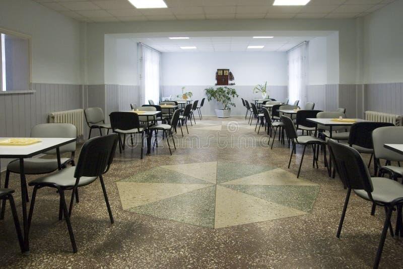 Sala da pranzo dell'ospedale immagini stock