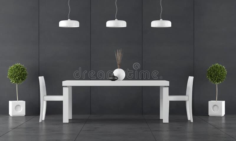 Sala da pranzo nera con l 39 incorniciatura della lavagna for Mobilia lavagna
