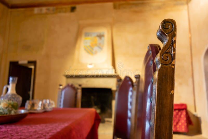 Sala Da Pranzo In Un Castello Medievale Fotografia Stock Immagine Di Storia Castello 161142076
