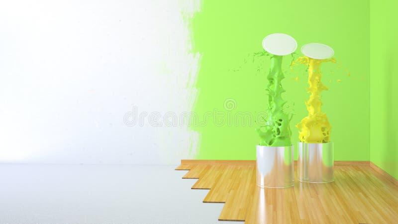 Sala da renovação ilustração stock