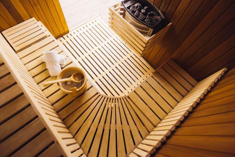 Sala da sauna foto de stock