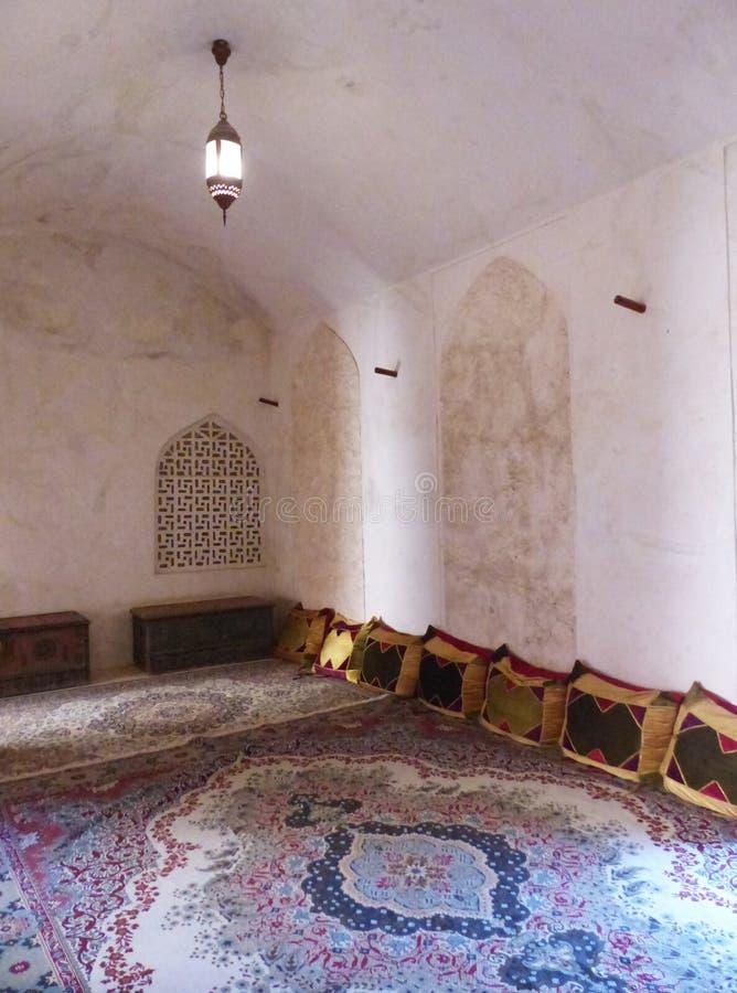 A sala das mulheres, castelo de Jabrin, Omã fotografia de stock royalty free