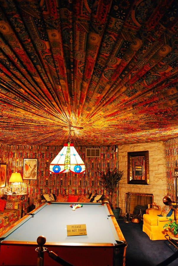 A sala de associação em Graceland, Memphis foto de stock