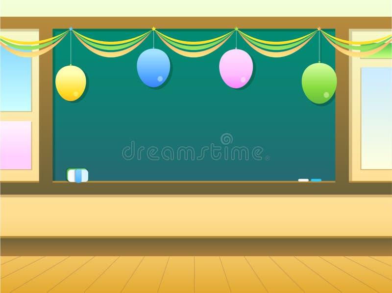 Sala de aula ilustração stock