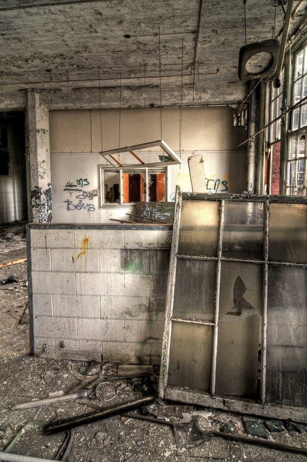 Sala de aula abandonada fotografia de stock royalty free