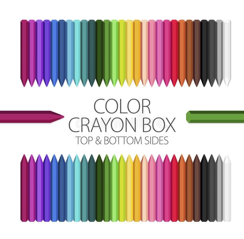 Sala de aula - caixa do pastel da cor ilustração royalty free