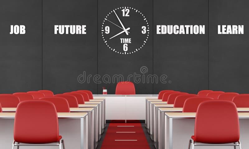 Sala de aula contemporânea ilustração do vetor