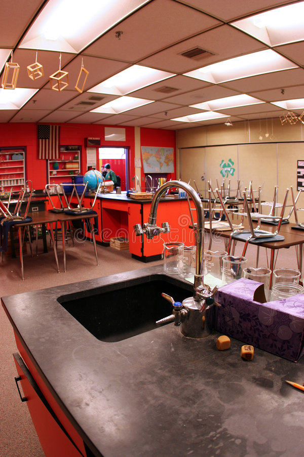 Sala de aula da ciência foto de stock royalty free