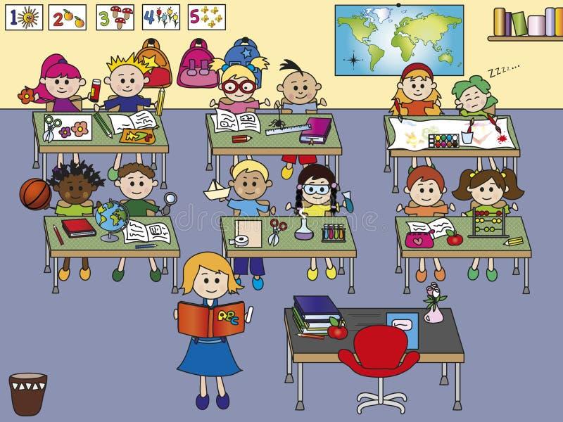 Sala de aula da escola ilustração stock