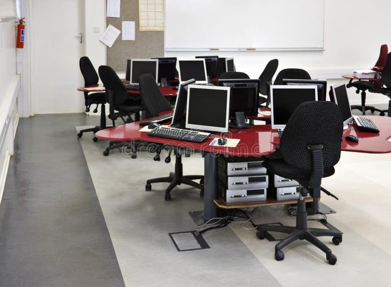 Sala de aula do computador foto de stock royalty free