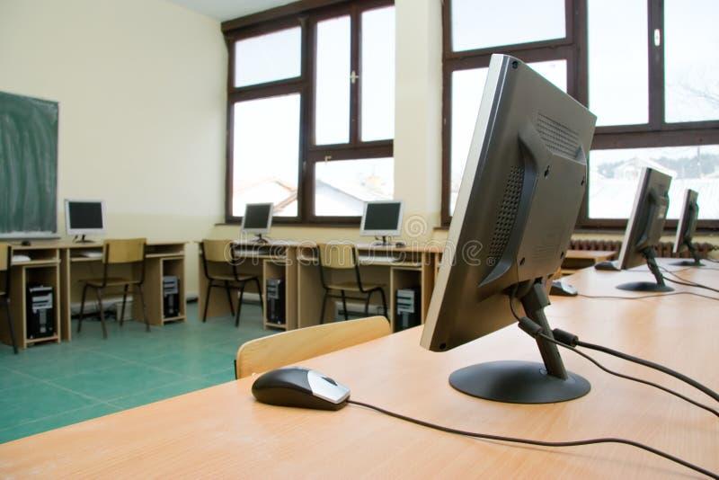 Sala de aula do computador fotografia de stock