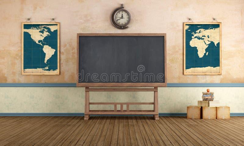 Sala de aula do vintage ilustração royalty free
