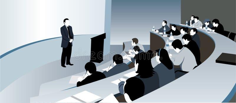 Sala de aula e professor ilustração stock