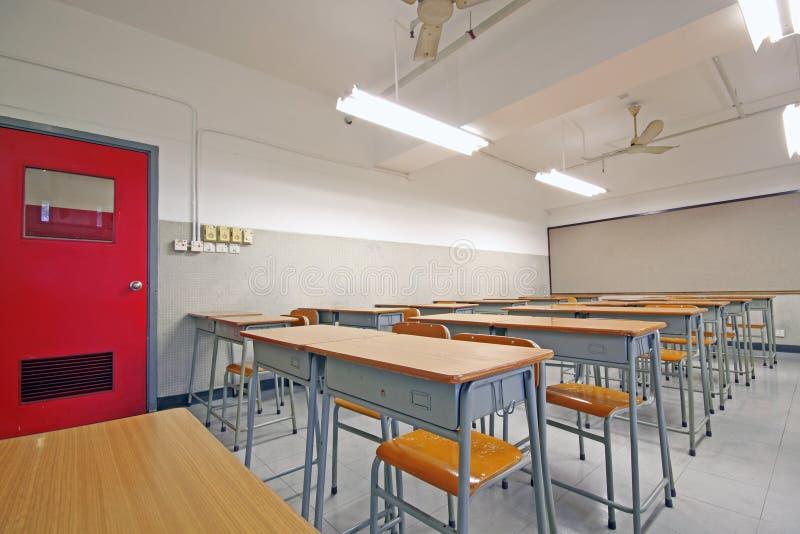 Sala de aula grande vazia fotografia de stock