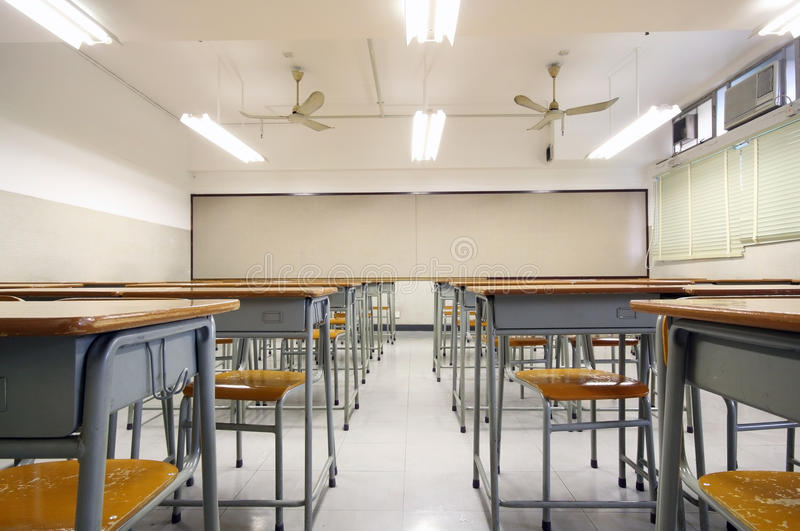 Sala de aula grande vazia imagens de stock royalty free