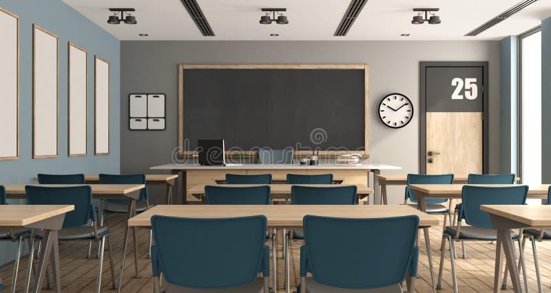 Sala de aula moderna vazia ilustração stock