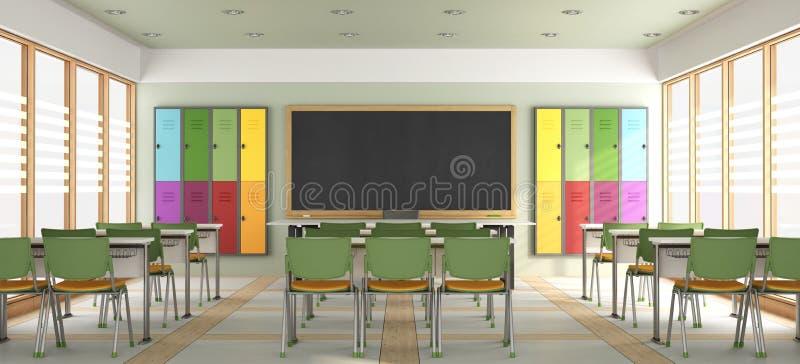 Sala de aula moderna vazia ilustração do vetor